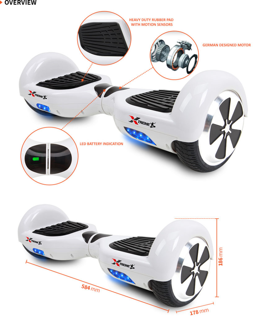 6.5 hoverboard uk white6